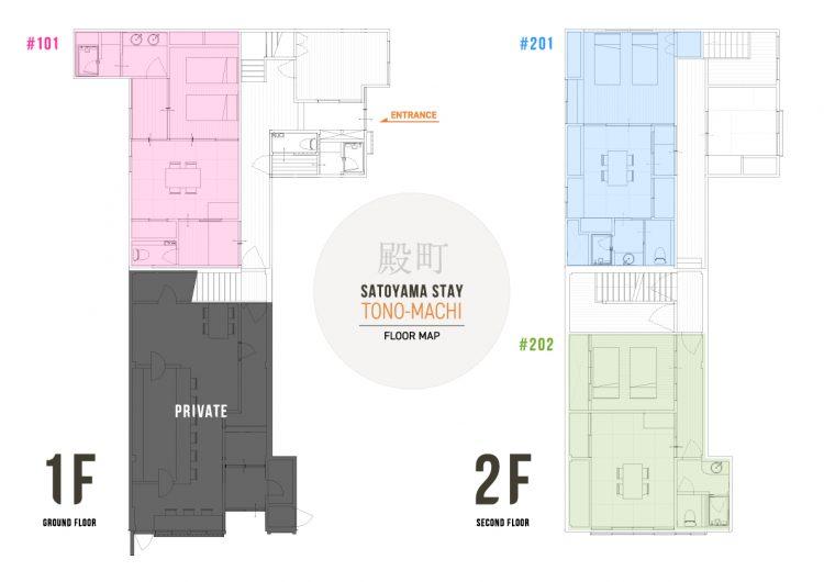 SATOYAMA STAY TONO-MACHI Floor Map